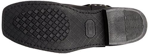 RIDETECS Motorcycle Boot, Duty Oiled Black, 10.5