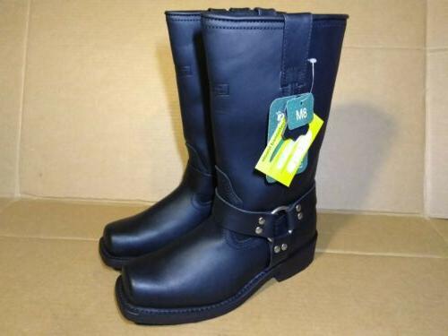 RIDETECS Motorcycle Boot, Duty Oiled Goodyear Black, 10.5