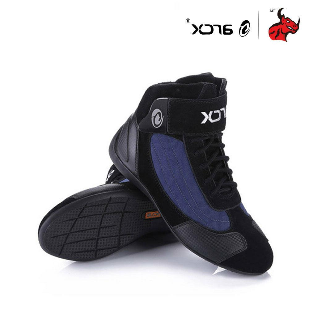 HEROBIKER® Genuine Cow Leather Racing Ankle Shoes