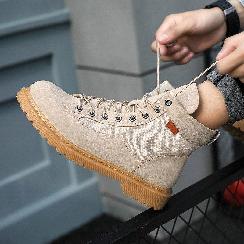 QMJHVX High martin <font><b>boots</b></font> Outdoor <font><b>Boots</b></font> For <font><b>Men</b></font> Shoes <font><b>Motorcycle</b></font> <font><b>Boots</b></font>