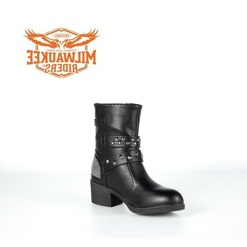 Ladies Multi-Studded Buckle Boots By Riders®