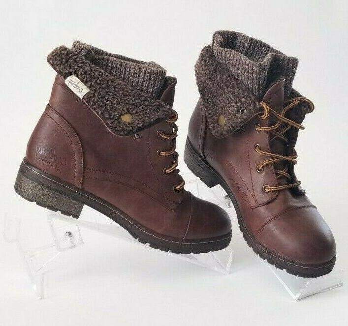 Coolway Leather Fur lined booties Women's Hiking Boots Motor