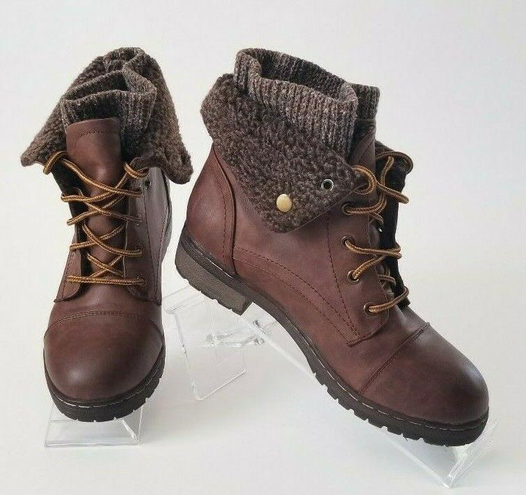 leather fur lined booties women s hiking