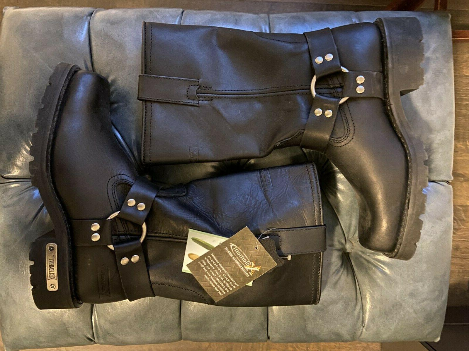 leather motorcycle boots men s size 8