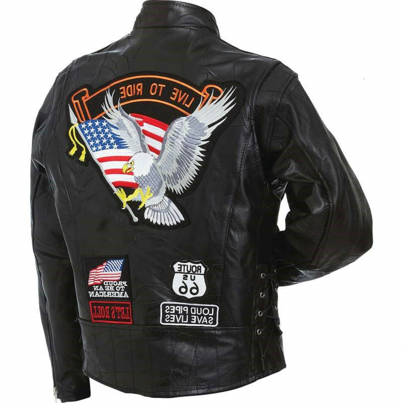 man s motorcycle jacket genuine buffalo leather