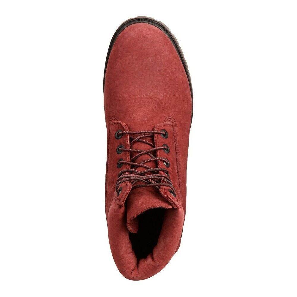 TIMBERLAND Men HERITAGE Boots NIB ALL SIZES DARK RED NUBUCK