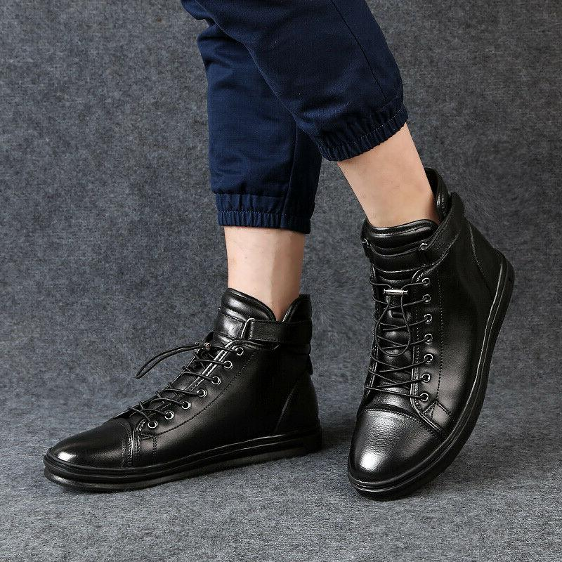 Men Autumn Boots Casual Motorcycle Black