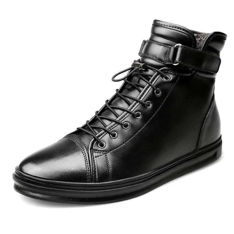 Men Autumn Boots Leather Motorcycle