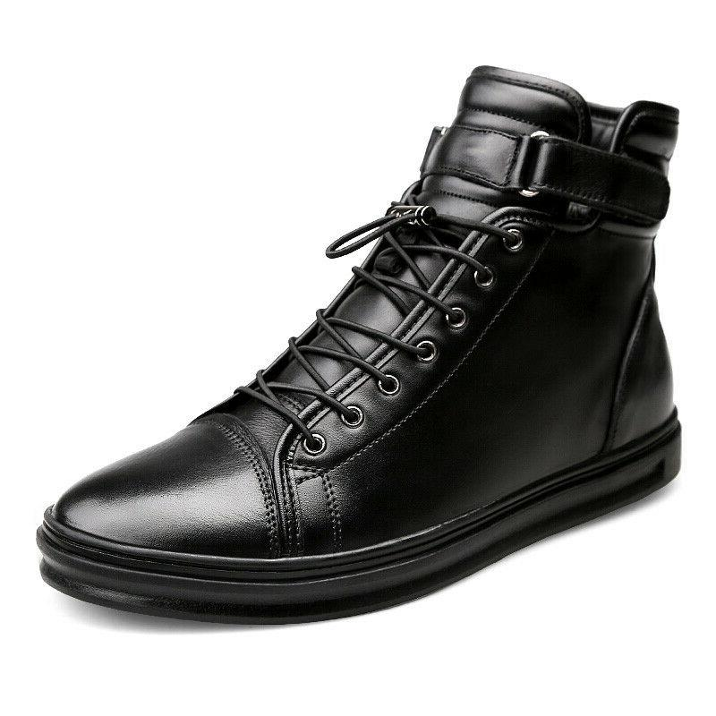 men autumn winter ankle boots casual leather