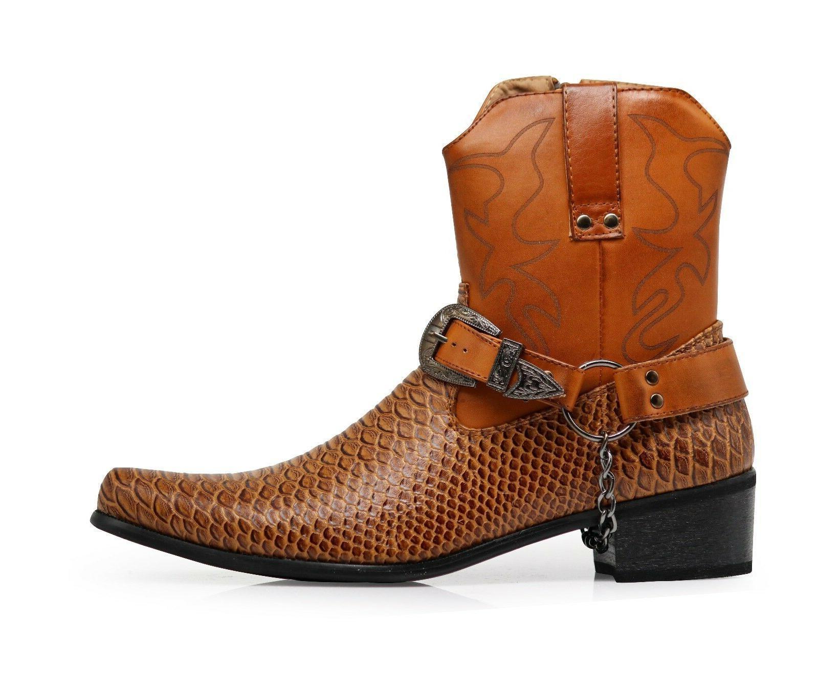 Men Boots Leather Line Motorcycle JPN
