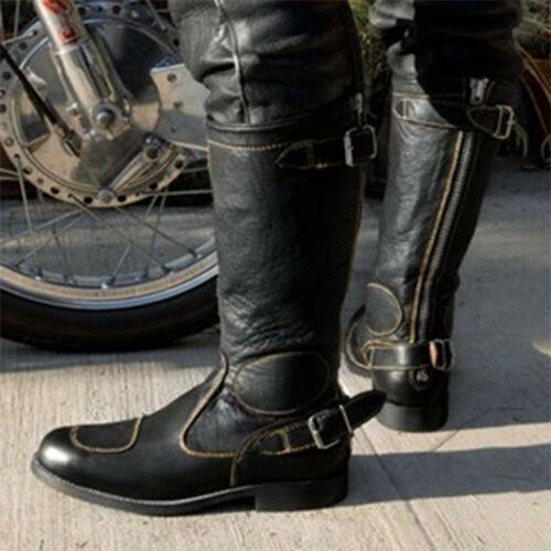 Men Motorcycle Biker Cowboy Buckle Casual