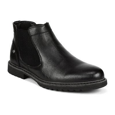 Bruno Marc Motorcycle Combat Chelsea Leather Boots