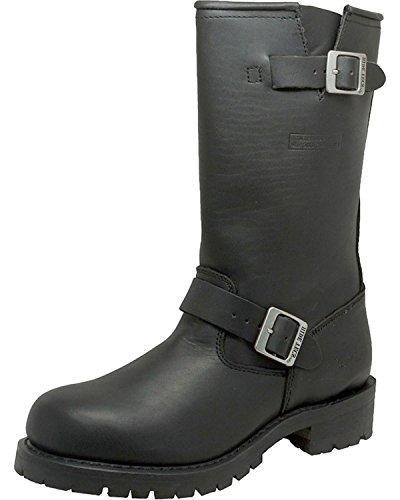 AdTec Men's 11 Inch Engineer Motorcycle Boot, Black, 13 M US