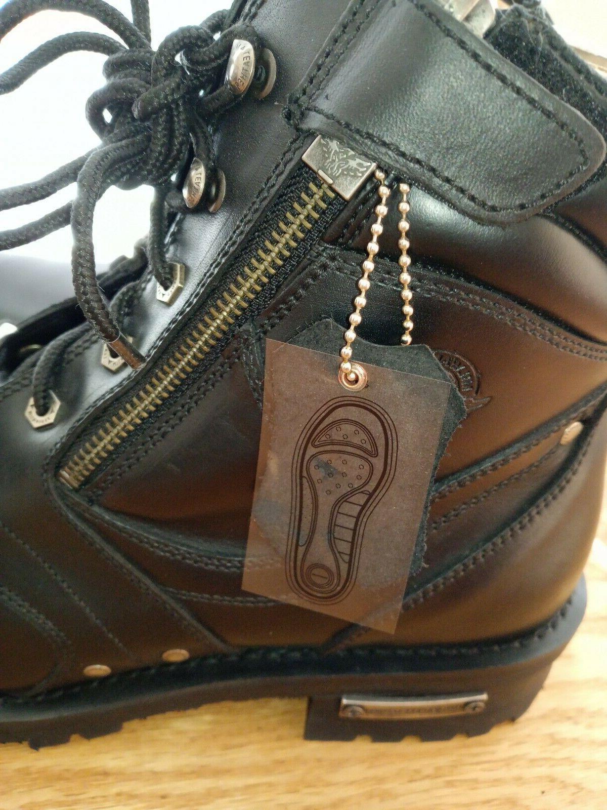 Milwaukee Leather Men's Boots w/ & Plain Toe - Size