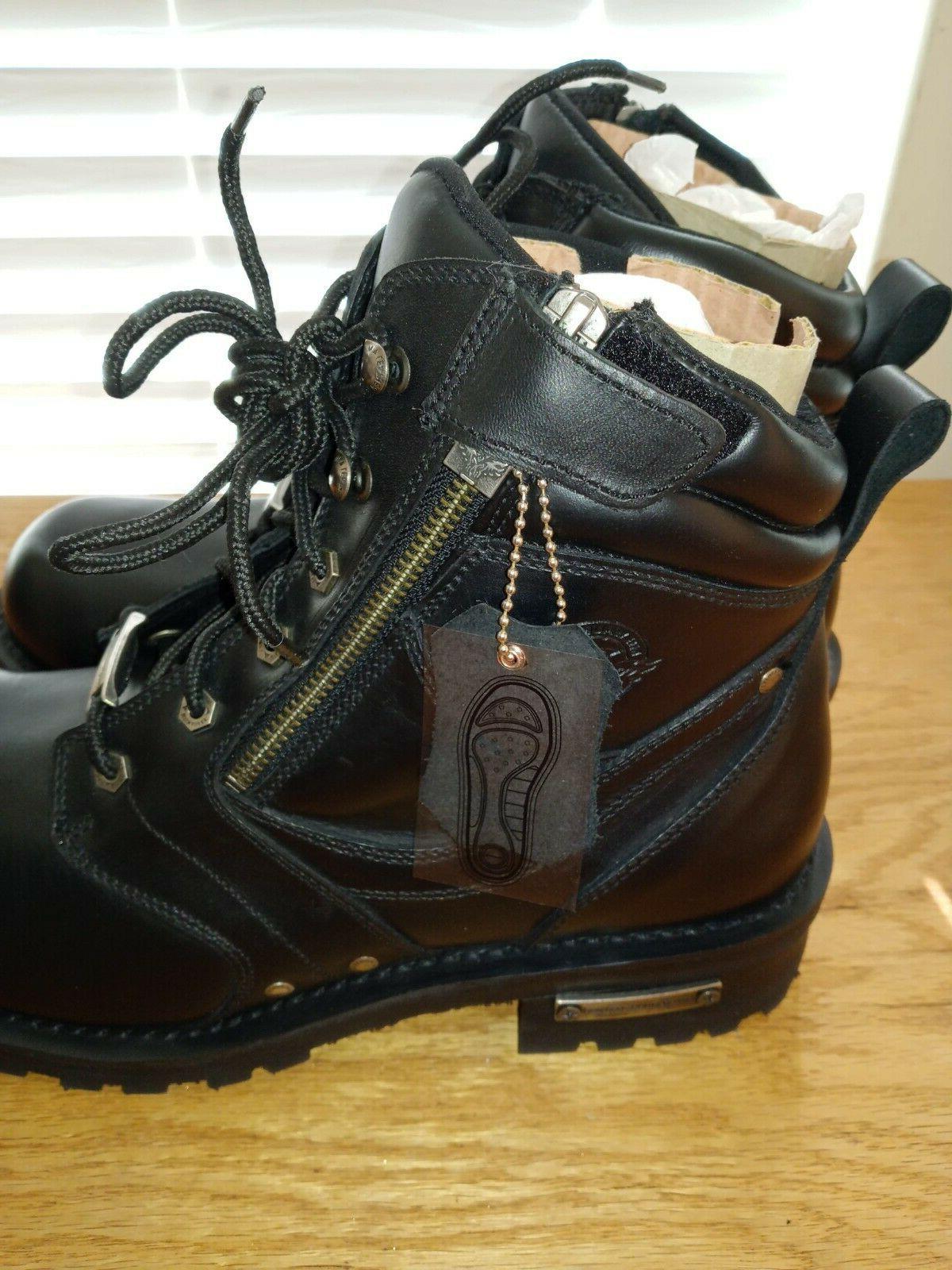 Milwaukee Leather Men's w/ Side & Plain Size 12