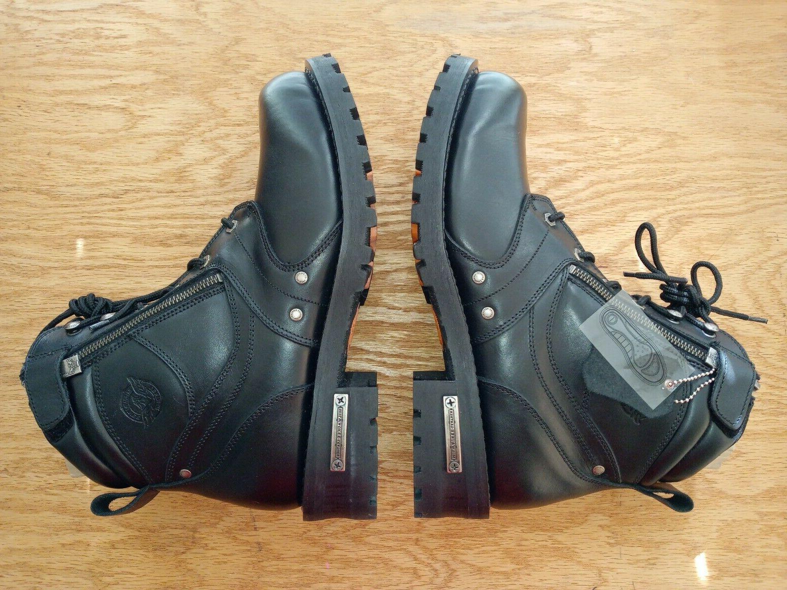men s boots w side zipper entry