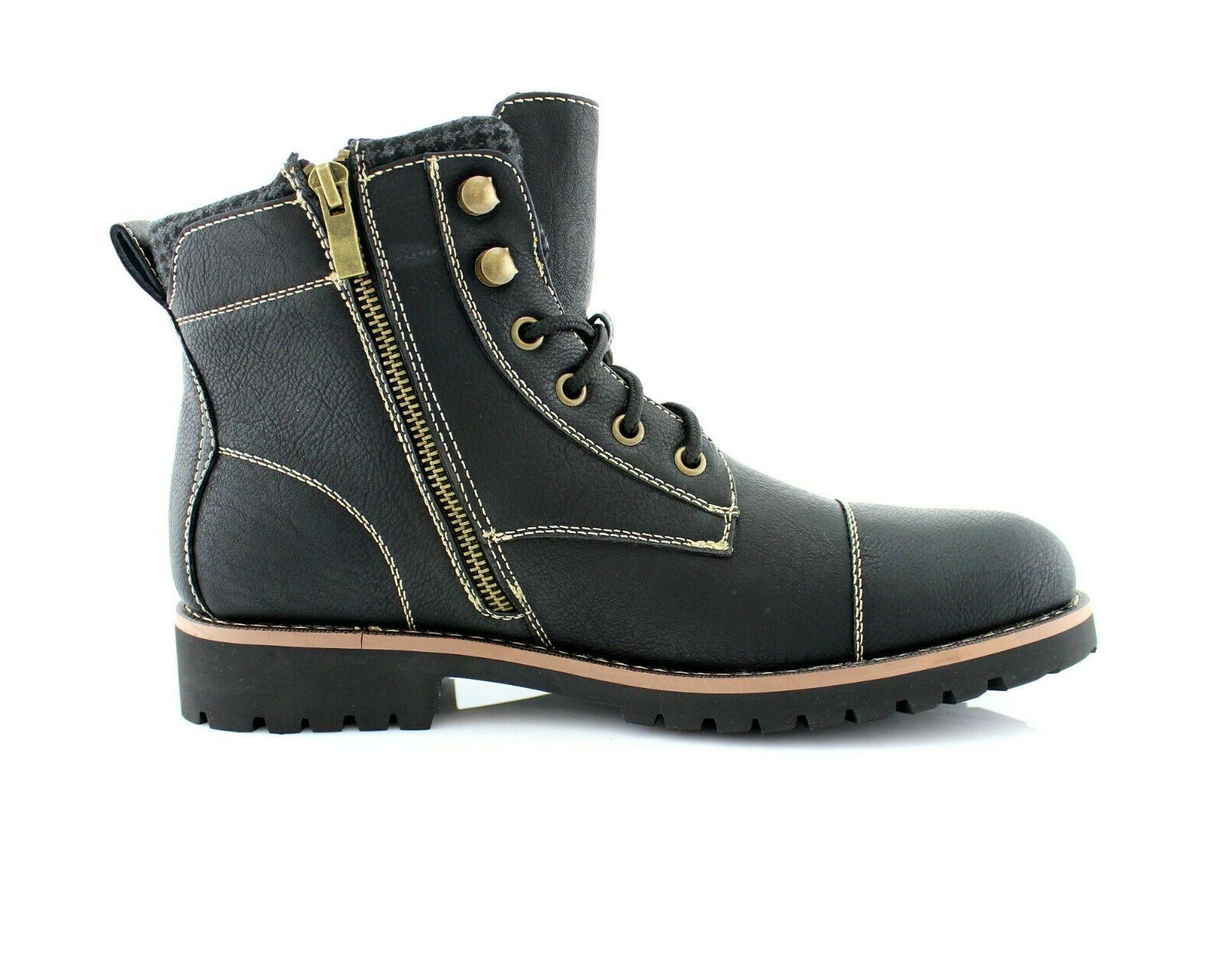 Men's Lace Shoes Combat Motorcycle Hiking Boots