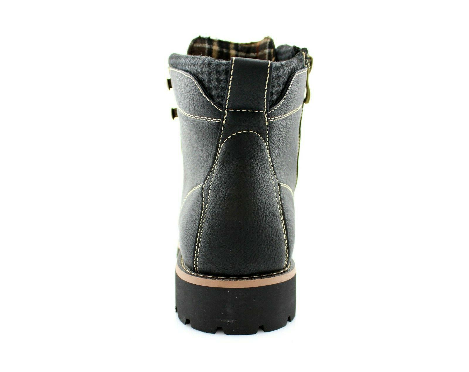 Men's Casual Leather Zipper Lace Up Motorcycle Boots
