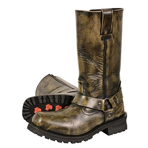 Milwaukee Leather Men's Classic Motorcycle Harness Boot