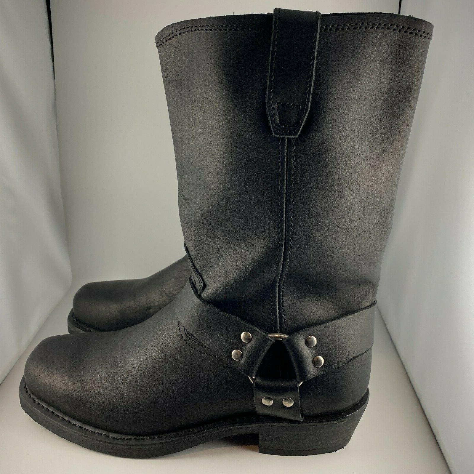 men s dean leather harness motorcycle boots