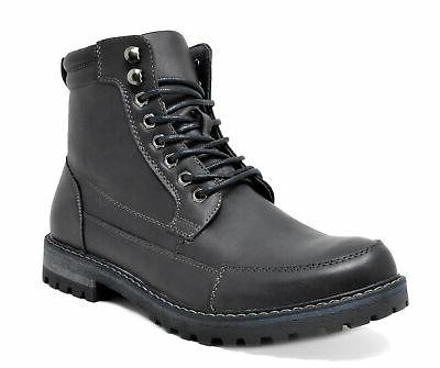 US Men's Motorcycle Combat Oxford Boots Zippe Leather Hiking