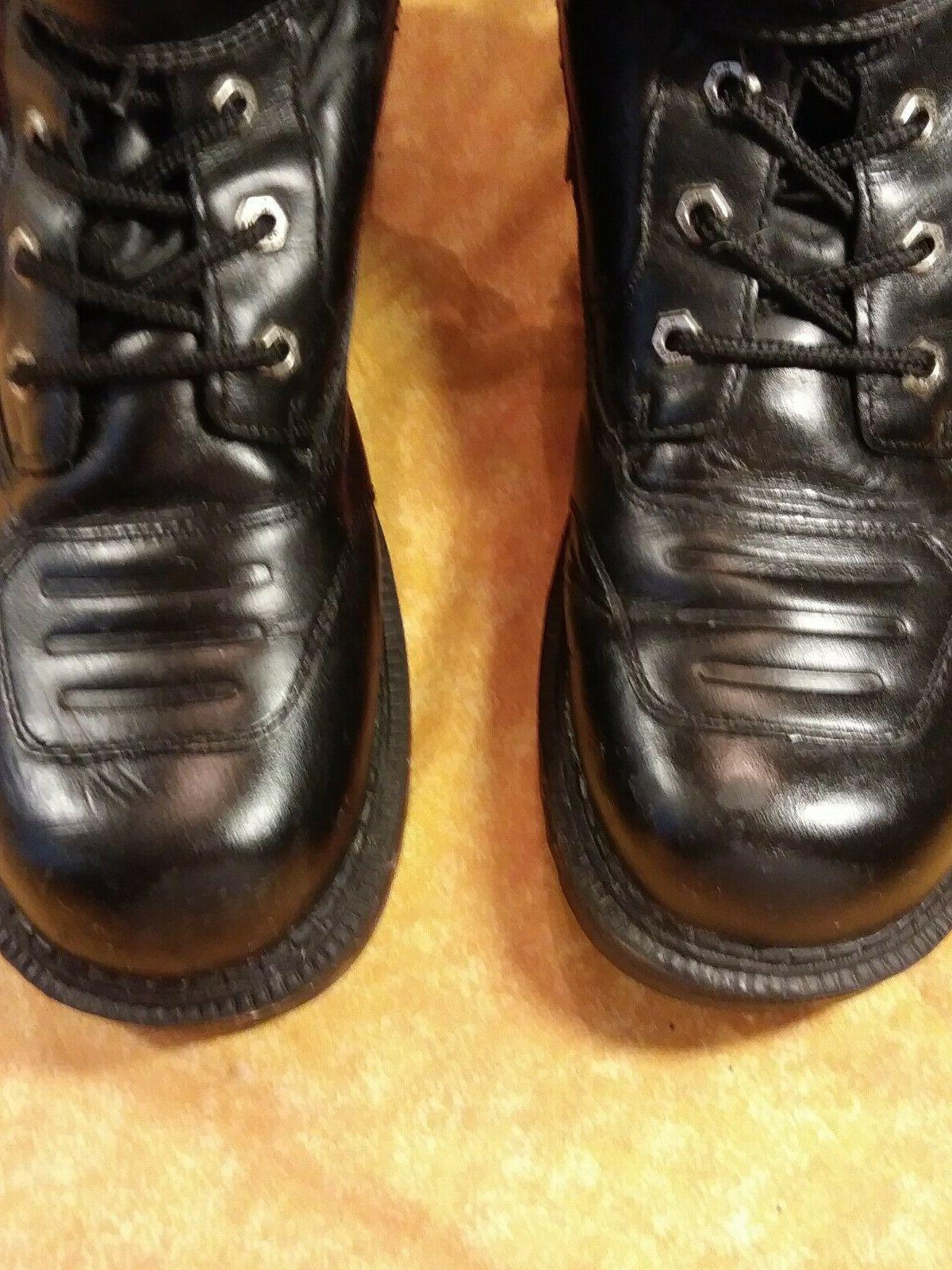 Men's Black Leather Boots D Lug