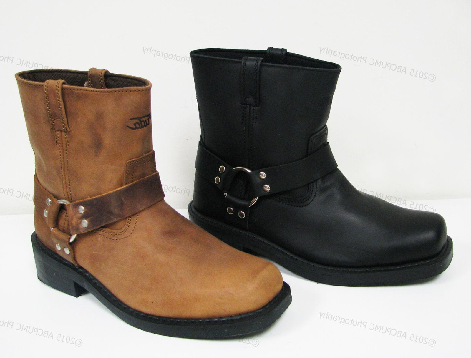 Brand Men's Harness Boots Leather Riding,