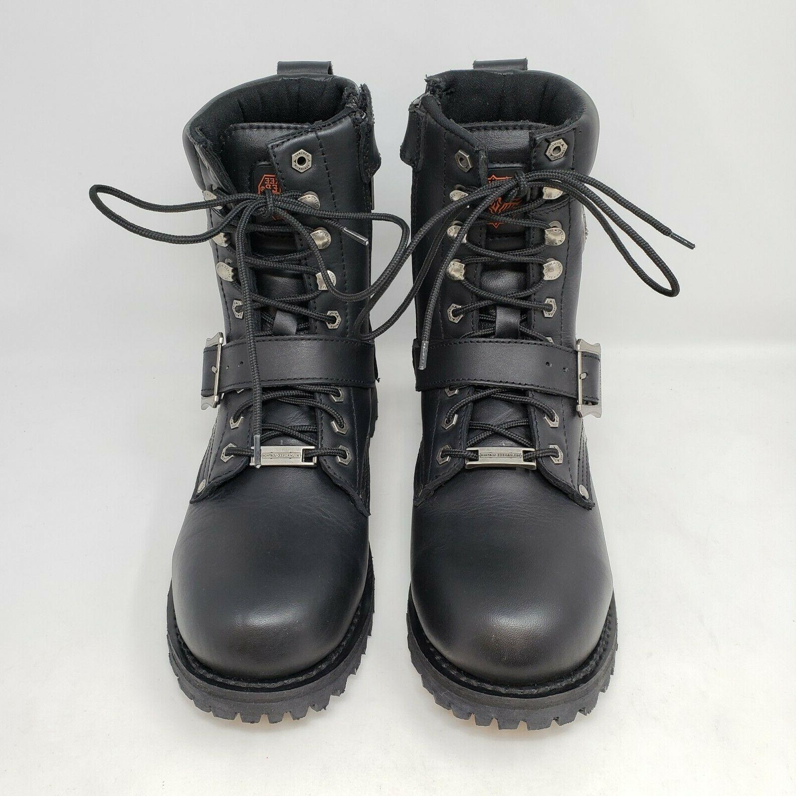 Milwaukee Up Black Engineer Motorcycle Boots Size 8.5