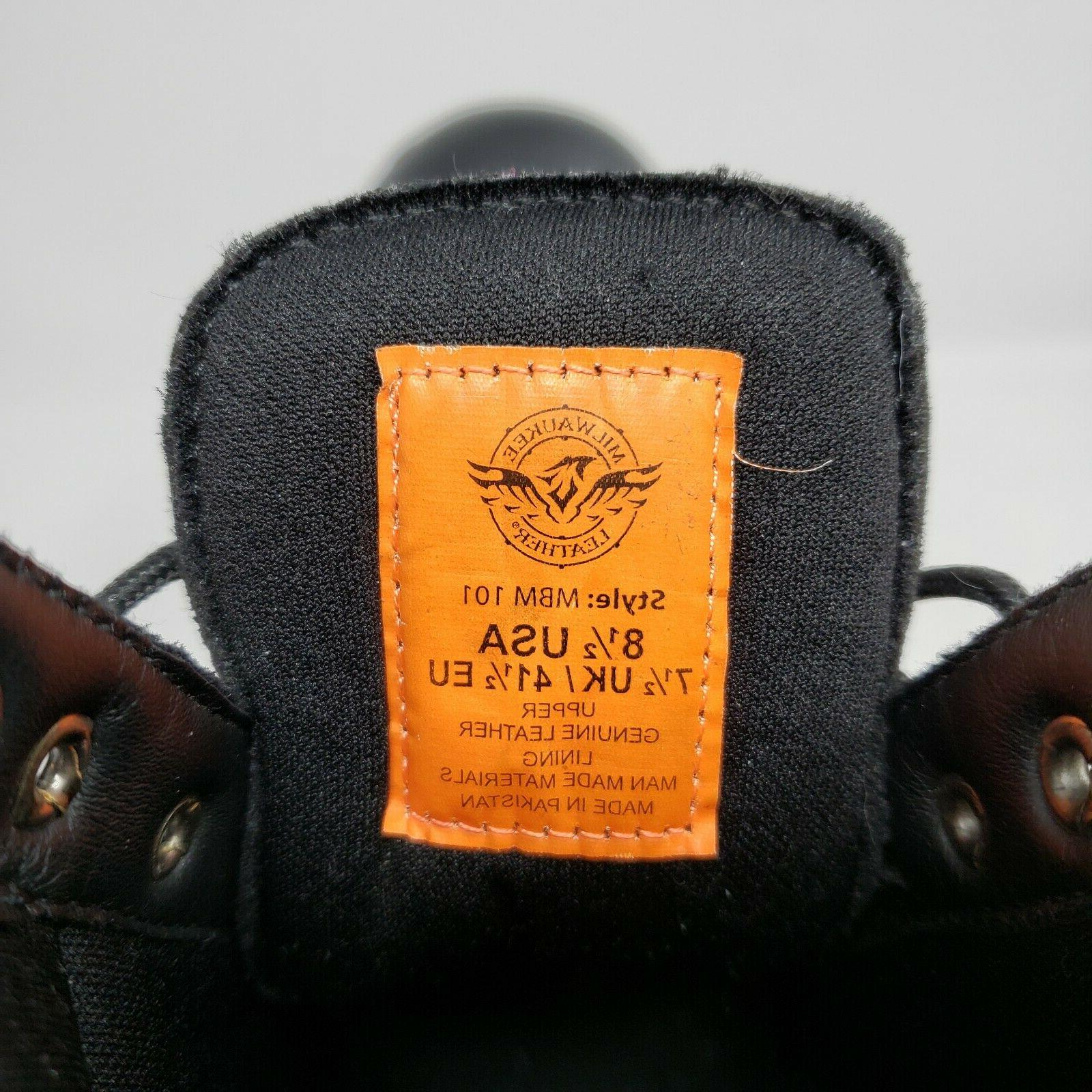Milwaukee Up Motorcycle Boots Size 8.5