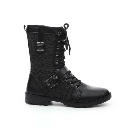 Men's leather Casual Boots Knight Tactical Army Military Shoes
