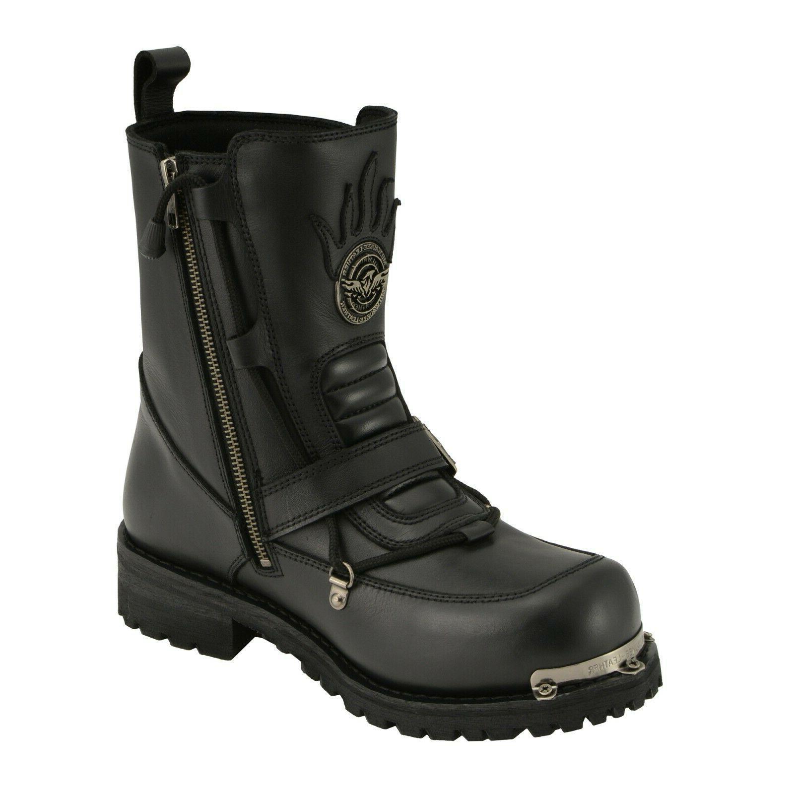 Milwaukee Leather Men's Boot Round Toe Enhancement.