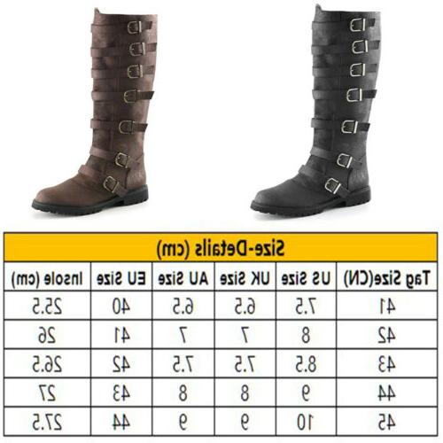 Men's Motorcycle Boots Pirate Military Combat