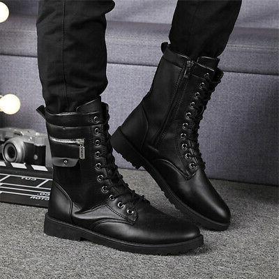 Men's Boots Leather Lace