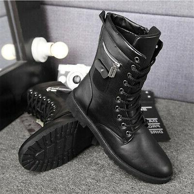 Boots Combat Leather Lace