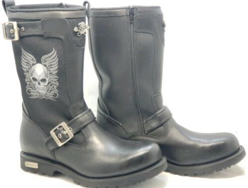 XELEMENT BLACK LEATHER RIDER BOOTS