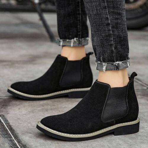 Heel Motorcycle High Chelsea Ankle Shoes