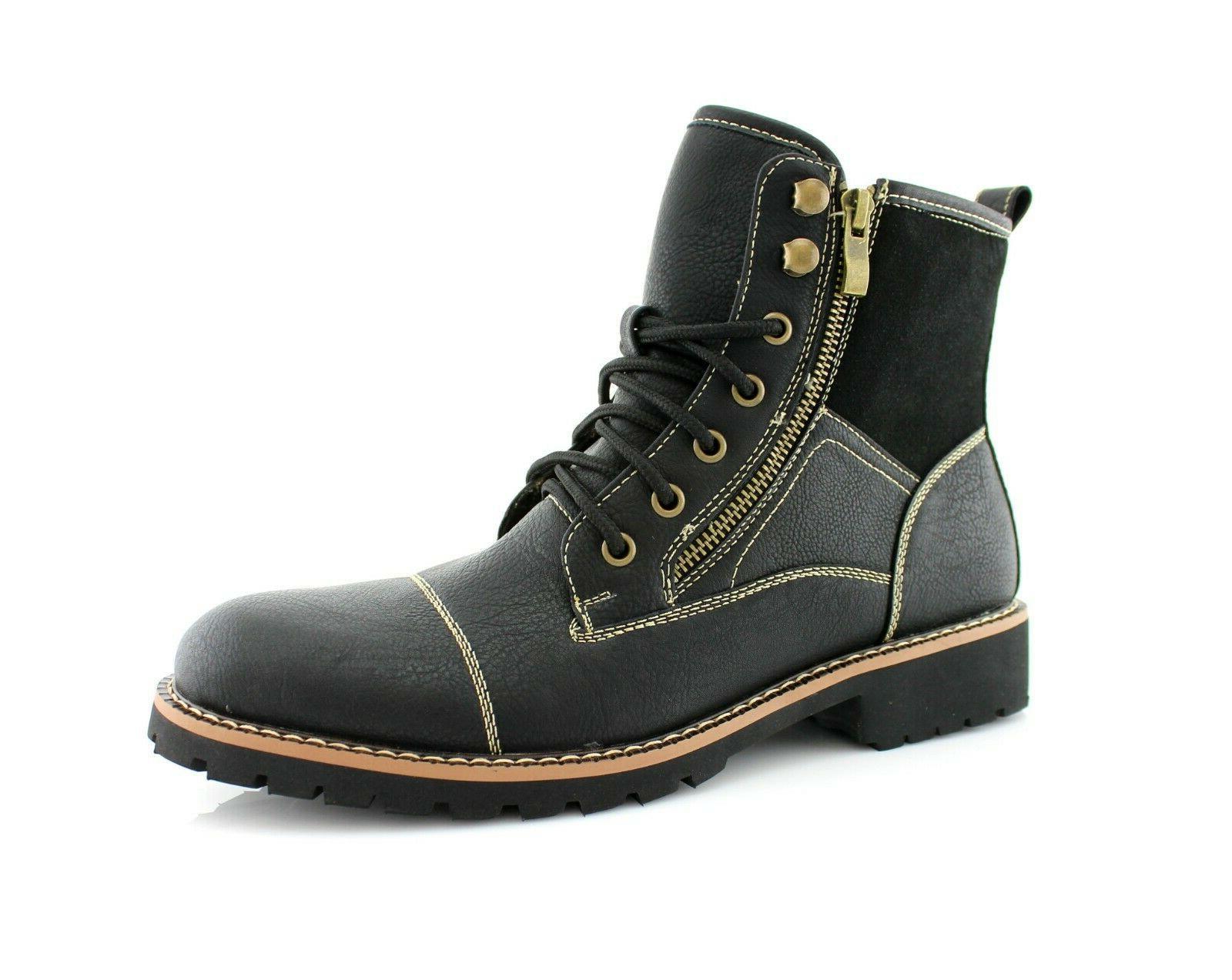 men s suede leather black lace up