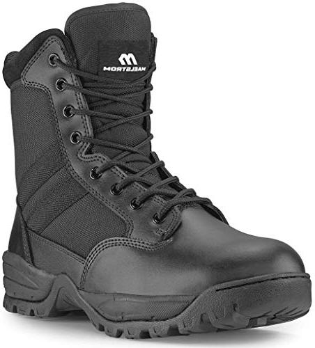 Maelstrom TAC FORCE 8 Inch Tactical Duty Work Boot with Zipper, Black, US