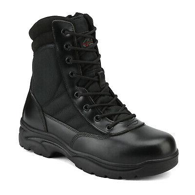 Men's Side Zip Military Tactical Army Work Boots Motorcycle