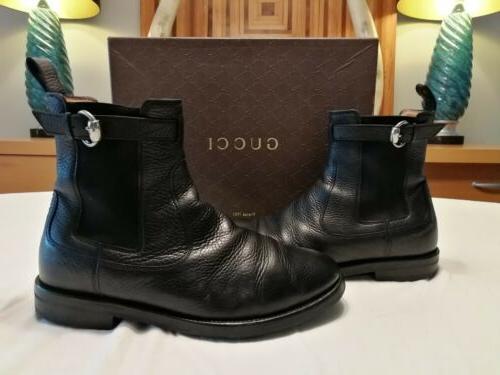 mens black ankle horsebit boots 8 5d