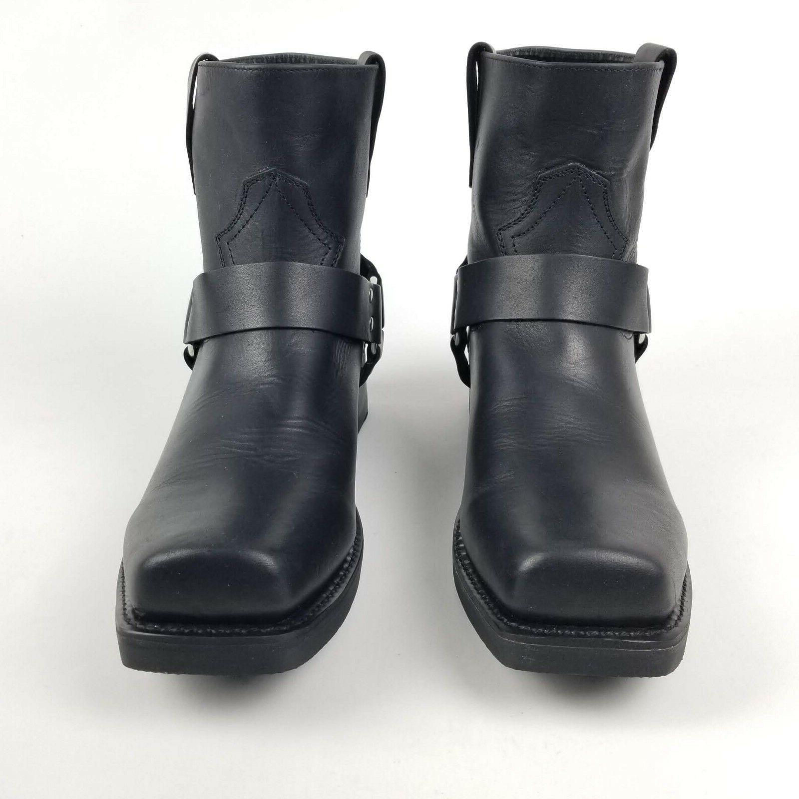 Durango Mens Boots Black Harness Short Leather 12M