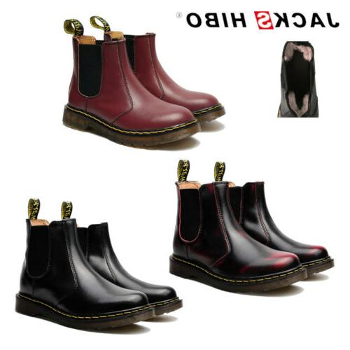 mens fashion ankle chelsea boots casual flat