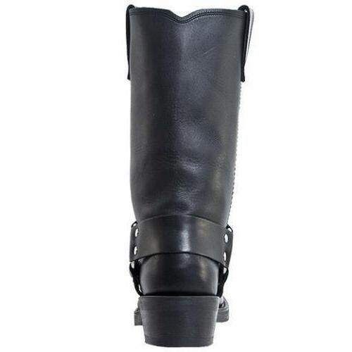 MOTORCYCLE BLACK BOOTS DI19057 M/EW 7-16