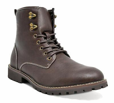 Bruno Up Motorcycle Combat Oxford Leather Dress Boots