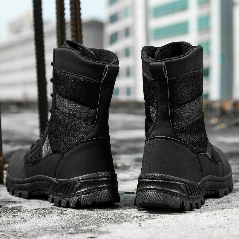 Mens Military Combat Boots Army Lightweight Motorcycl Work Boots