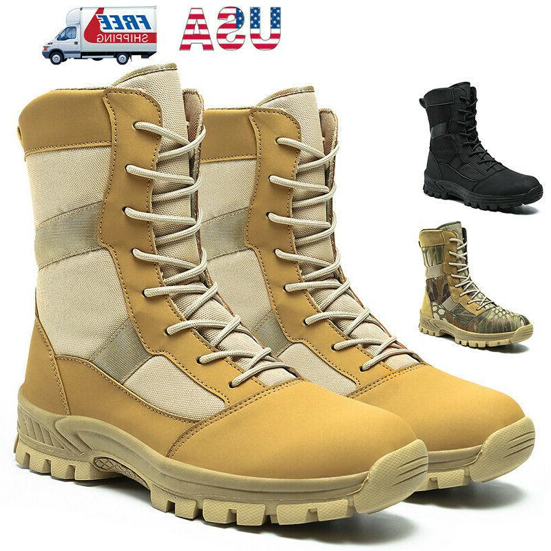 mens military tactical combat boots army hiking