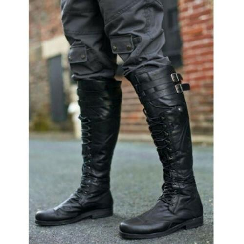 Mens Riding Boots High Rivets US