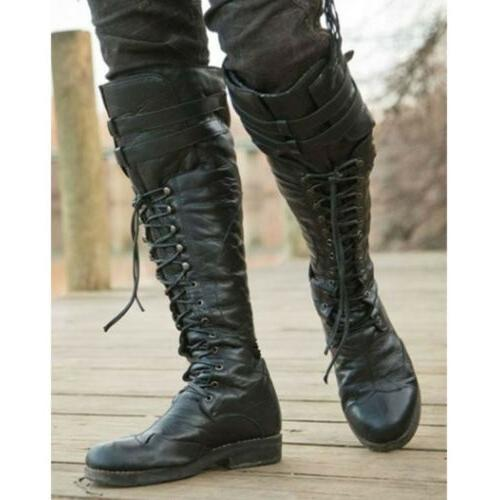 Mens Boots Knight Rivets Punk US