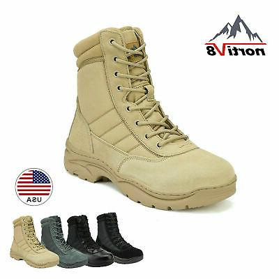 mens waterproof combat military tactical work boots