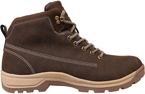 WHITIN Mid Toe Work Roofing Hiking Winter Fashion Carolina Motorcycle Industrial Brown Size